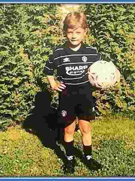 Patrik Schick com a camisa de Beckham nos tempos de Manchester United - Reprodução - Reprodução