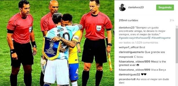 A mensagem de Daniel Alves para Messi
