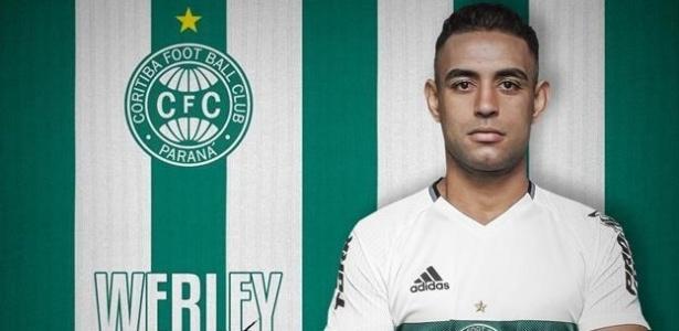 Werley assinou contrato de dois anos com o Coritiba