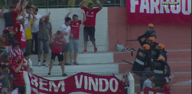 Torcida do Inter provoca interrupção do jogo em Veranópolis