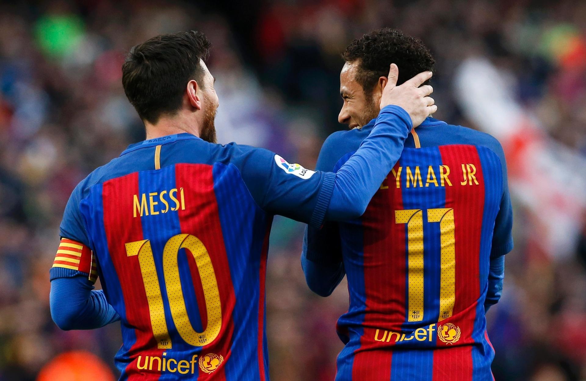 Neymar chegou ao centésimo gol pelo Barcelona mais rápido que Messi -  02 04 2017 - UOL Esporte 508e26116f9c8