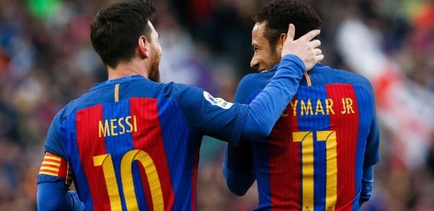 Neymar chegou ao seu 100º pelo Barça em 177 jogos; Messi precisou de 188 em 2010