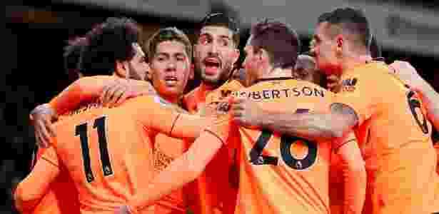 Liverpool comemora gol - Eddie Keogh/Reuters - Eddie Keogh/Reuters