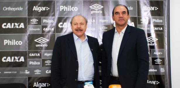Ricardo Gomes ficou pouco mais de dois meses como funcionário do Santos