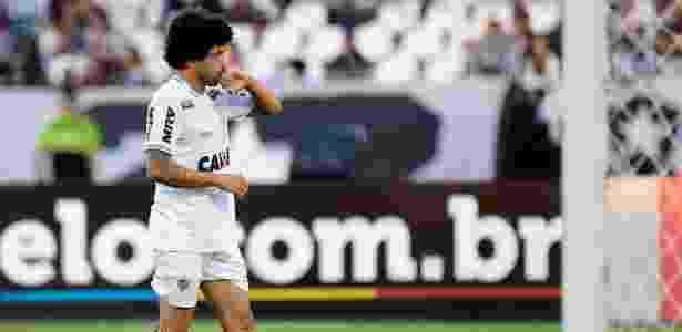 Luan comemora gol do Atlético-MG diante do Botafogo no Brasileirão 2018 - Thiago Ribeiro/AGIF