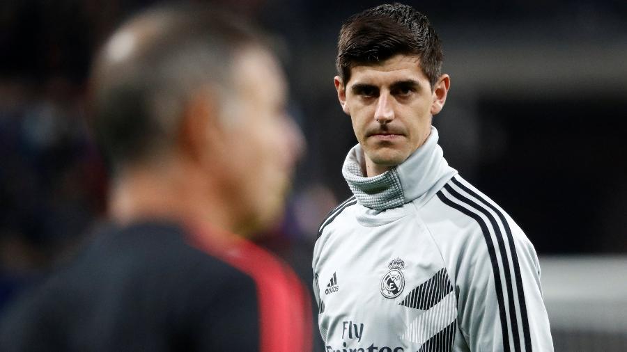 Courtois deu declaração polêmica sobre eventual fim prematuro do Campeonato Espanhol - REUTERS/Sergei Karpukhin