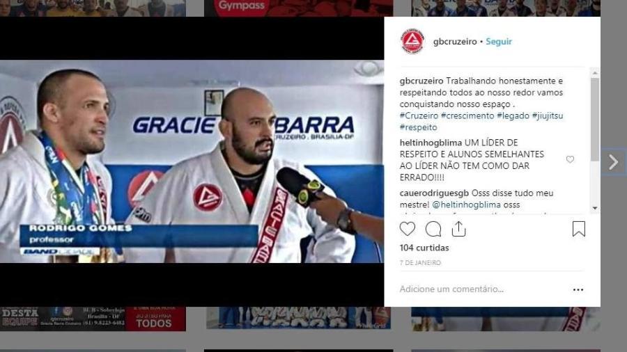 """Rodrigo """"Rodé"""" Gomes, lutador de jiu-jitsu, acusado de agredir a noiva Noemi Ramos - Reprodução"""