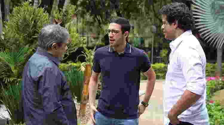 O diretor adjunto Fernando Chapecó, o gerente-executivo de futebol Alexandre Pássaro e o diretor-executivo de futebol Raí - Rubens Chiri/saopaulofc.net - Rubens Chiri/saopaulofc.net