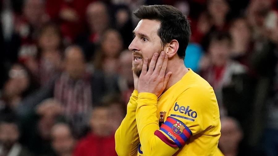 Messi entra nas oitavas de final da Liga dos Campeões como 29º colocado na artilharia - Vincent West/Reuters