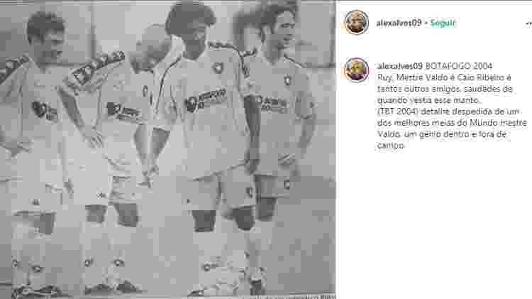 Alex Alves, Ruy, Valdo e Caio Ribeiro no Botafogo, em 2004 - Reprodução Instagram - Reprodução Instagram