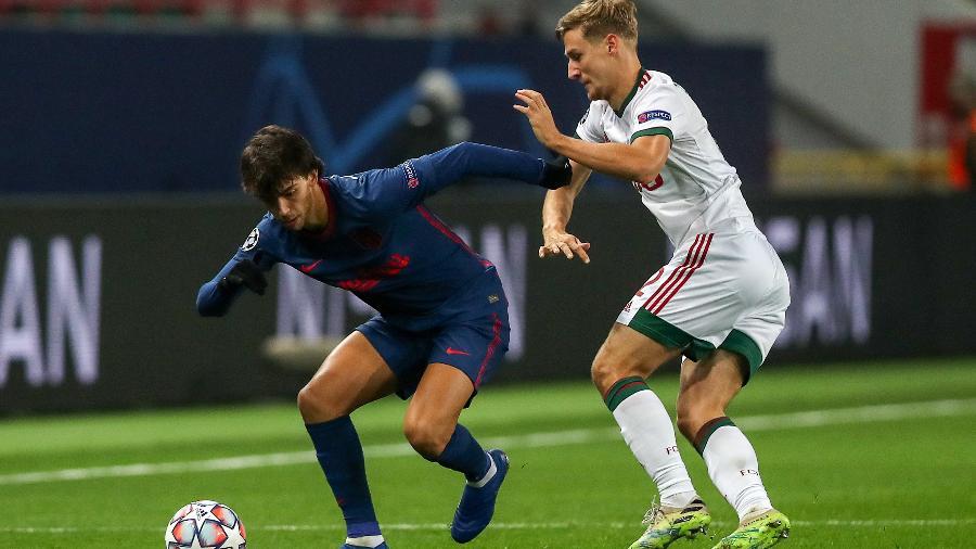 João Félix durante a partida entre Lokomotiv Moscou e Atlético de Madri, pela Liga dos Campeões - Sergei Savostyanov/TASS