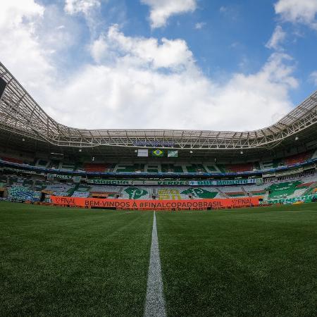 Allianz Parque decorado para a finalíssima da Copa do Brasil 2020 - Palmeiras/Divulgação