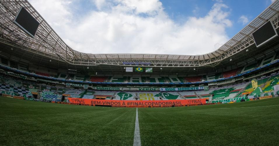 Allianz Parque decorado para a finalíssima da Copa do Brasil 2020