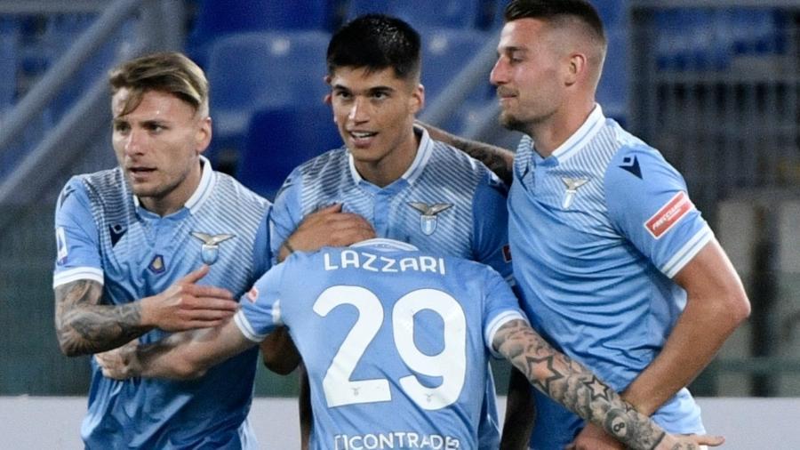 Lazio vence o Milan por 3 a 0 em jogo válido pelo Campeonato Italiano - MONTEFORTE / AFP