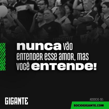 """Vasco da Gama anunciou novidades em seu programa de sócios, o """"Gigante"""" - Divulgação / Vasco"""