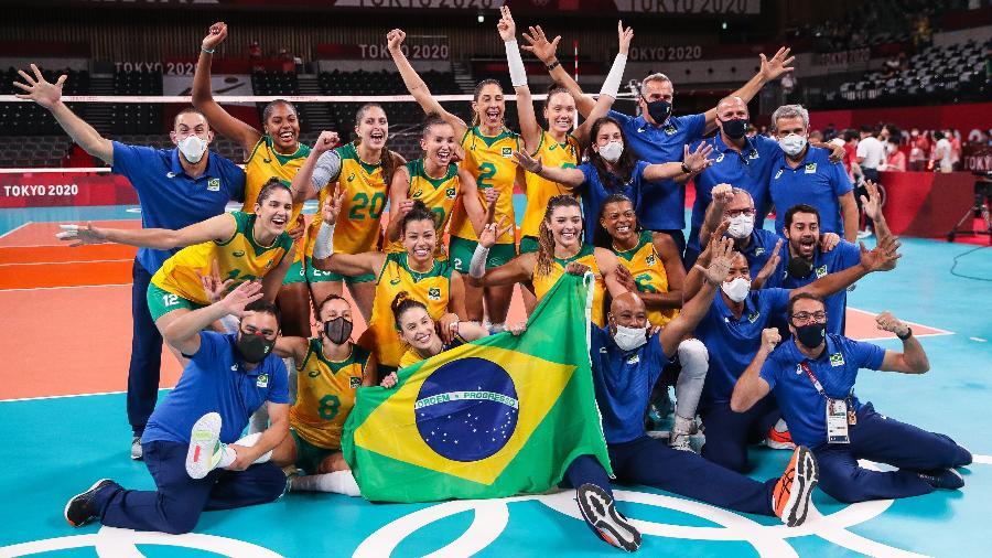 Homens são maioria na equipe técnica da seleção brasileira feminina de vôlei  - Gaspar Nóbrega/COB/Gaspar Nóbrega/COB
