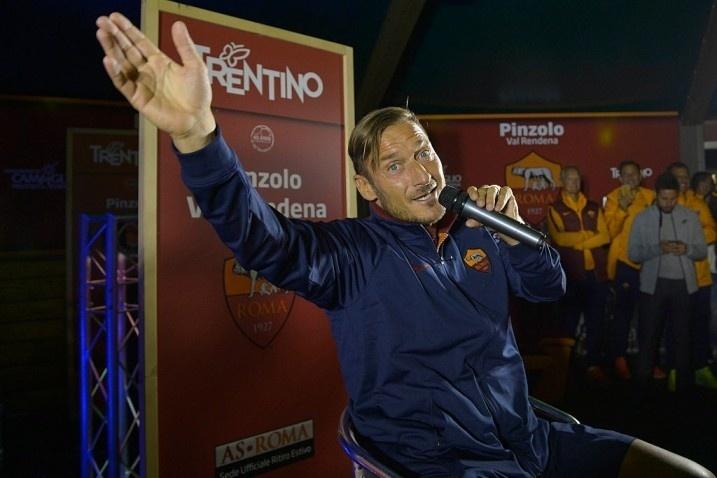 Francesco Totti, em evento realizado durante a pré-temporada da Roma