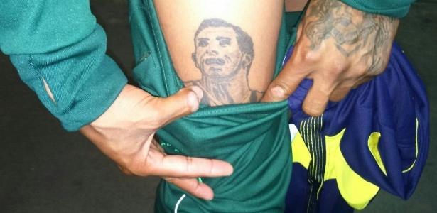 Daniel Garro tem até uma tatuagem do ídolo do Boca Juniors