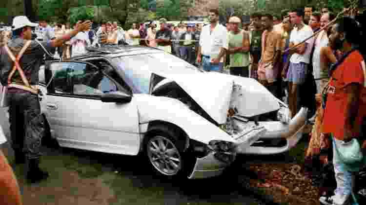 Dener morreu em acidente de carro na Lagoa Rodrigo de Freitas, no Rio de Janeiro, em 1994 - Reprodução - Reprodução