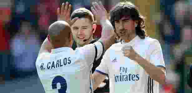 Roberto Carlos em jogo de lendas entre Liverpool e Real Madrid - Carl Recine/REUTERS - Carl Recine/REUTERS