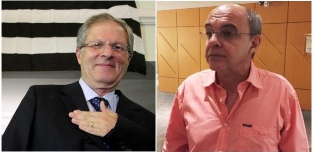 Presidentes do Botafogo, Carlos Eduardo Pereira, e do Flamengo, Bandeira de Mello