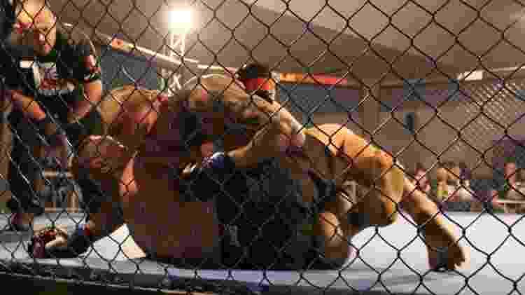 Ronald Pereira durante luta de MMA - Reprodução/Arquivo Pessoal Ronald Pereira - Reprodução/Arquivo Pessoal Ronald Pereira