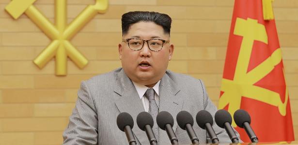 Líder norte-coreano Kim Jong-un enviou suas felicitações a Miguel Díaz-Canel, novo presidente de Cuba - AFP/KNCA via KNS