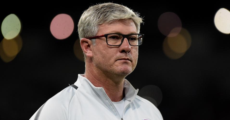 Odair Hellmann, técnico do Internacional, na partida contra o Fluminense