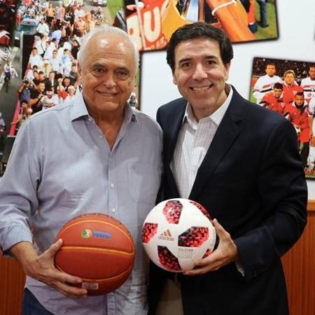 João Fernando Rossi, à direita, assumiu a diretoria de marketing nesta semana - Igor Amorim/saopaulofc.net