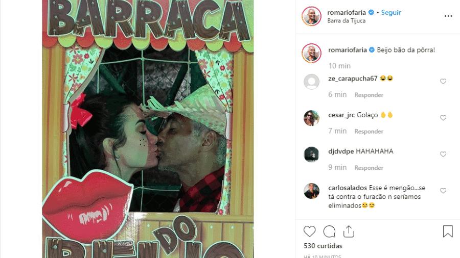 Romario posta foto beijando sua nova namorada - Reprodução/Instagram