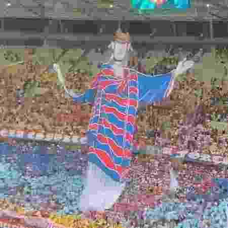 Torcida do Fortaleza exibe mosaico no Castelão na partida contra o Flamengo - Reprodução