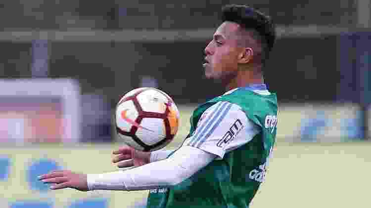 Gabriel Menino começou a chamar a atenção do profissional do Palmeiras ainda com Mano - Cesar Greco/Ag. Palmeiras/Divulgação