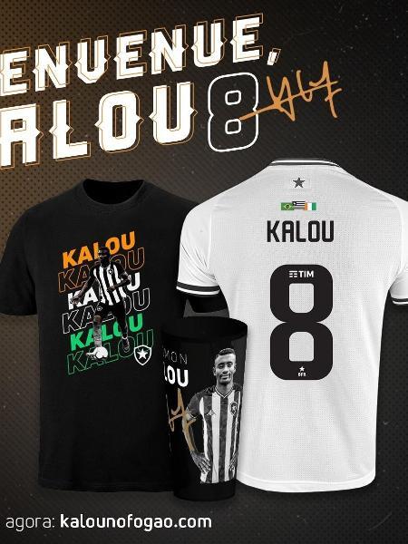 Botafogo lança linha de produtos para celebrar chegada de Kalou - Reprodução
