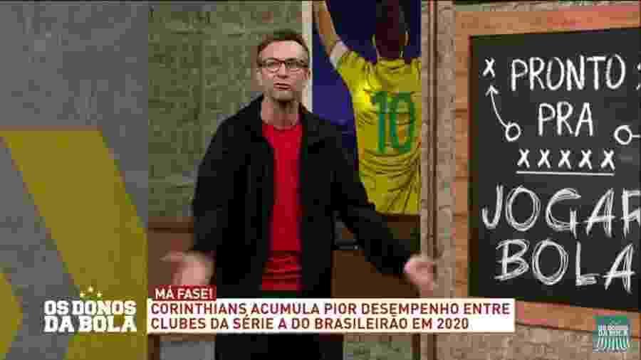 Neto se irrita com elenco do alvinegro paulista e critica o time durante o programa - Reprodução/TV Bandeirantes
