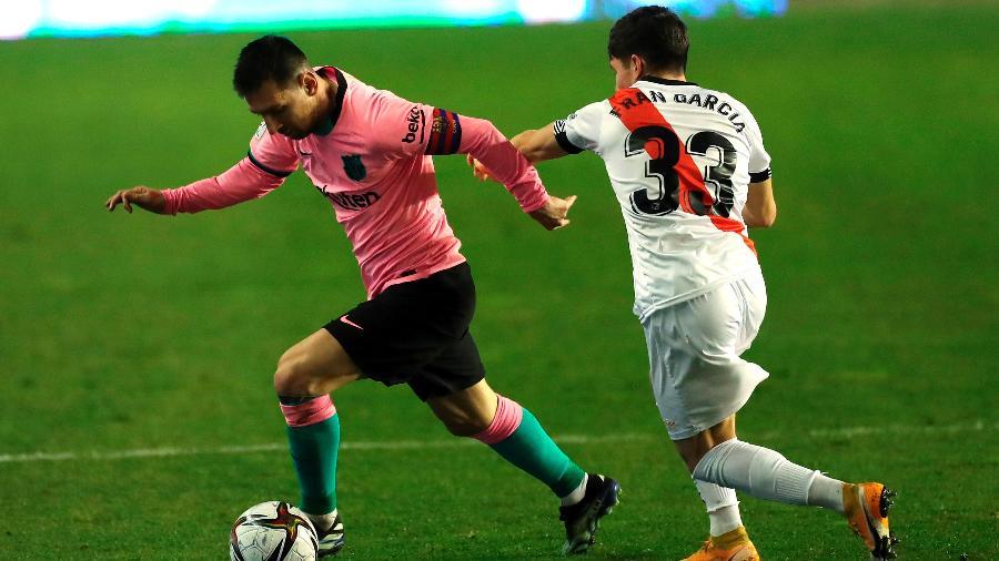 Lionel Messi na partida entre Rayo Vallecano e Barcelona - EFE