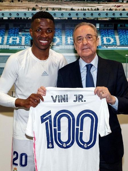 Vinicius Jr comemora 100 jogos pelo Real Madrid e celebra gol feito contra o Real Sociedad  - Instagram