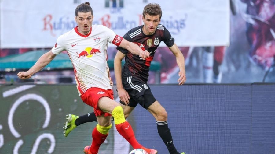 RB Leipzig e Bayern de Munique se enfrentam pelo Campeonato Alemão  - Jan Woitas/picture alliance via Getty Images