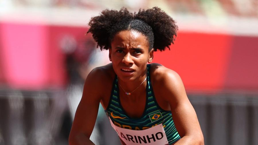 Tiffani Marinho, após classificatória dos 400m rasos feminino  - REUTERS/Lucy Nicholson