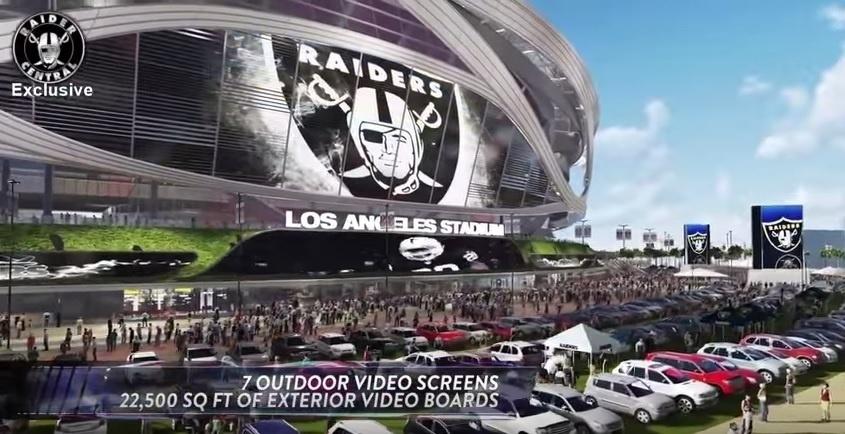 Projeto do Los Angeles Stadium é para 65 mil pessoas e tem sete telões gigantes no lado externo
