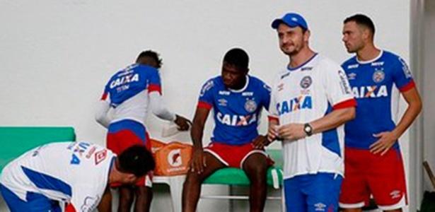 Marquinhos, novo preparador físico da Chape, em trabalho pelo Bahia