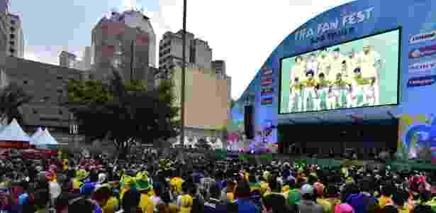 Fan fest Copa - AFP PHOTO / NELSON ALMEIDA - AFP PHOTO / NELSON ALMEIDA