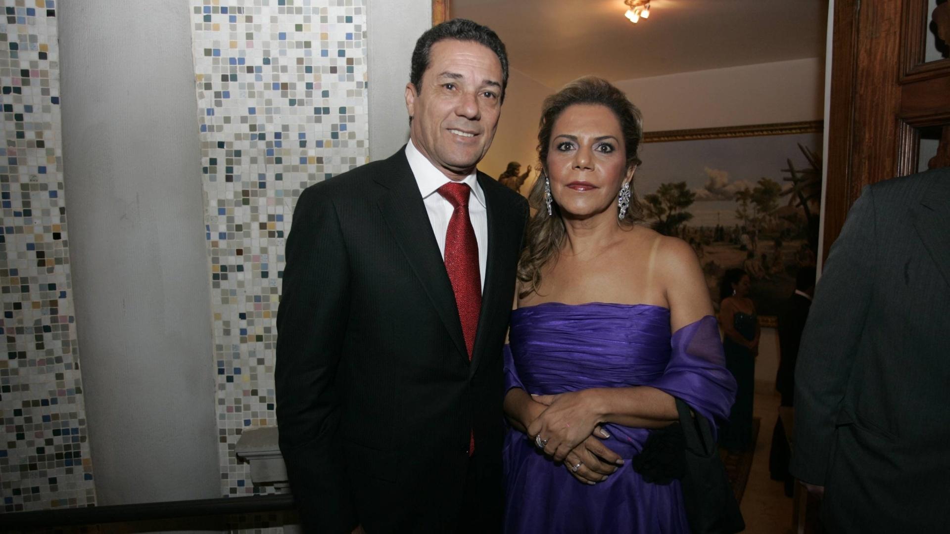 Vanderlei Luxemburgo e Jô, sua mulher