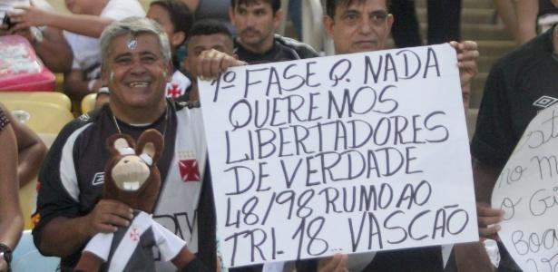 Torcedor do Vasco demonstra otimismo com o clube na Libertadores - Paulo Fernandes / Flickr do Vasco