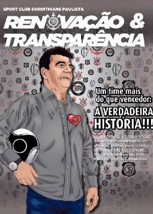 Andrés aparece em material político - Reprodução