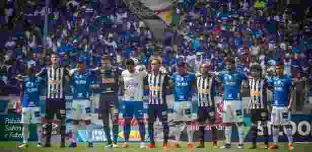 Atletas de Cruzeiro e Atlético-MG intercalados em homenagem à vítimas de Brumadinho - Vinnicius Silva/Cruzeiro - Vinnicius Silva/Cruzeiro