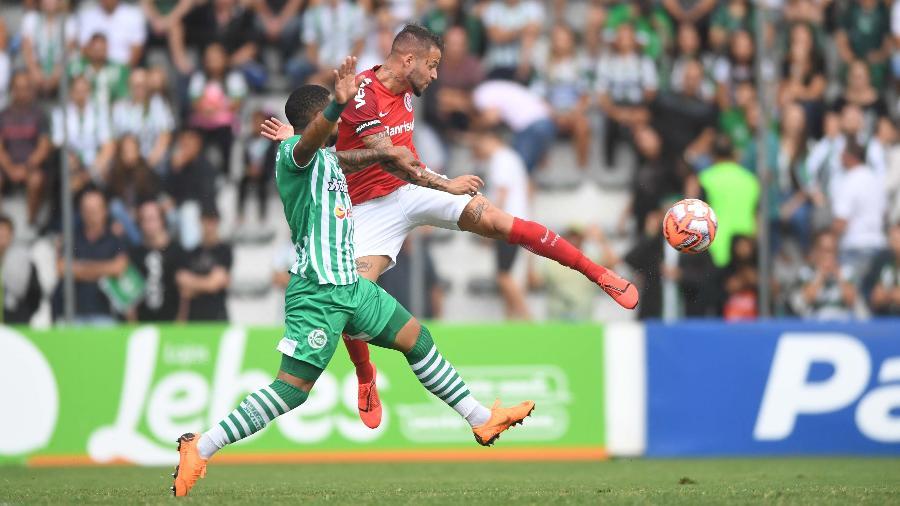 Nico López, durante jogo entre Inter e Juventude - Ricardo Duarte