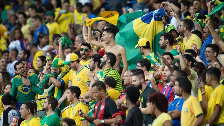 Torcida da seleção brasileira na Arena Fonte Nova, na Bahia - Lucas Figueiredo/CBF