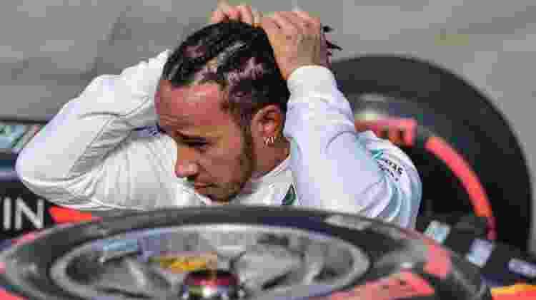 Lewis Hamilton pneus - NELSON ALMEIDA/AFP - NELSON ALMEIDA/AFP