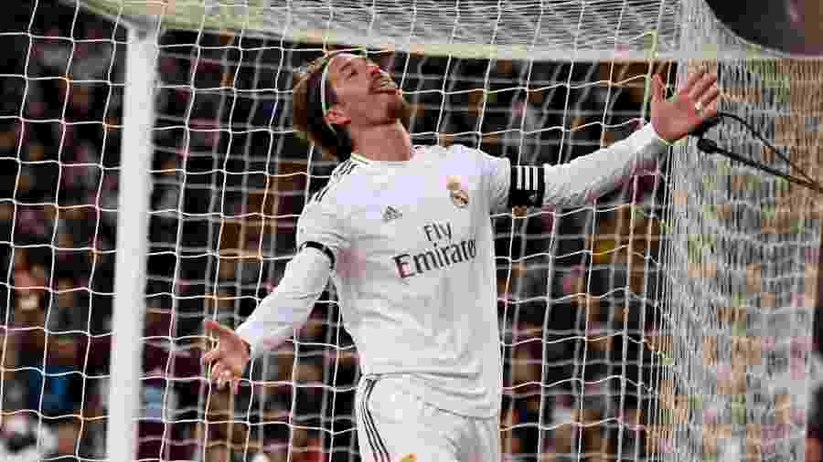 Sergio Ramos durante Real Madrid x Celta de Vigo - PIERRE-PHILIPPE MARCOU / AFP
