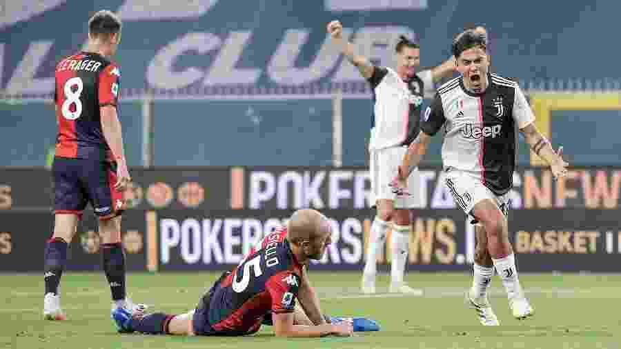Paulo Dybala, da Juventus, marca gol em vitória contra o Genoa, pelo Campeonato Italiano - Daniele Badolato - Juventus FC/Juventus FC via Getty Images